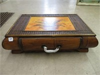 Decorative wood box with drawer