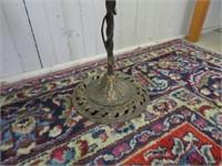 Antique floor reading lamp