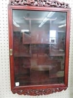 Ornate wall display case