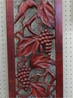 3 ornate wood wall plaques