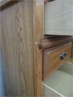 Oak Palliser dresser with mirror & chest of