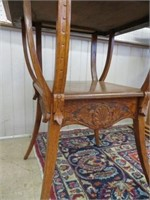 Antique carved lamp table