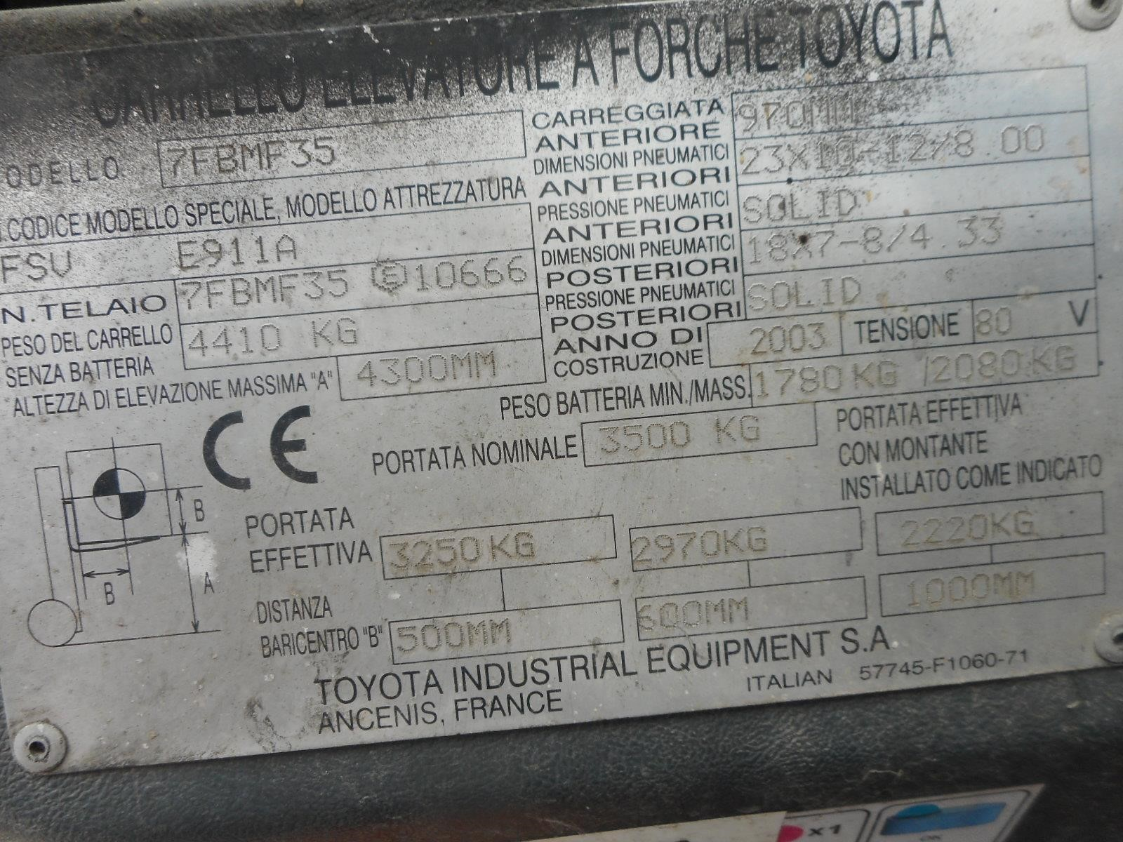 Toyota 7FBMF35 Usato