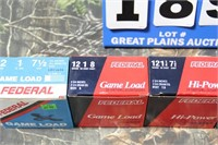 Lot of Mixed Federal 12g Shotgun Shells