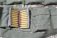3 Bandoleers Military Issue .30 Cal. Carbine Ammo