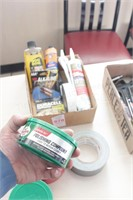 Tape, caulk, polishing and rubbing compound &more