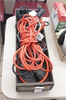 4 pc heavy duty extension cords and timer