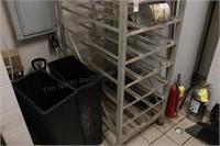9 shelf commercial canned goods rack