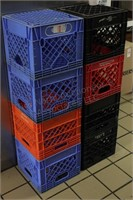 8pc Poly Milk Crates