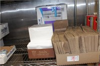 Paper lunch sack lot with napkins