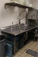 """72x30x36"""" Sturdi-Bilt Stainless Counter w/Disposal"""