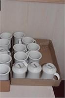39 pc Ventura 12oz ceramic mugs