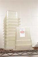 13 pc 1/6 size plastic condiment storage