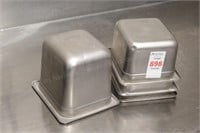 4 pc 1/6 size stainless chaffing pans