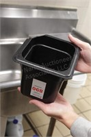 "5 pc 1/6th x 6"" black cold food tubs"
