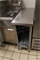 """36x14x34"""" stainless table with shelf"""