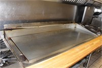 """commercial 72x31x12"""" griddle with grease trap"""