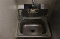 """15x18"""" stainless handwash sink"""