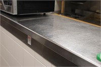 "156"" long 16"" wide stainless service counter"