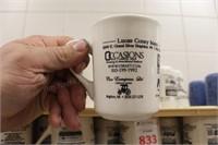 32 pc white ceramic Lucas Coney Island mugs