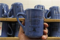 37 pc blue ceramic Lucas Coney Island mugs