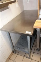"48x24x34"" stainless table with shelf"
