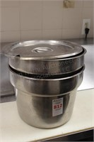 2 pc deep round chaffing pan pots