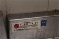 """123x33x36.5"""" stainless counter w/ backsplash"""