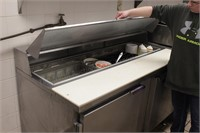 Beverage Air stainless cold prep counter