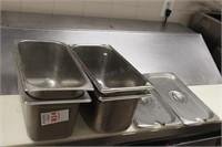 4 pc third deep chaffing pans