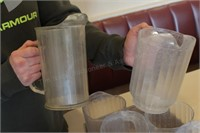 6 pc plastic drink pitchers