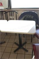 "30x24"" single pedestal restaurant table"