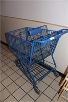 1 full sized wire shopping cart