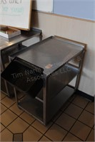 """27x18x32"""" stainless utility cart"""
