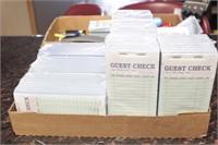 Office supplies, guest check pads, stapler/stapls