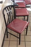 5 pc curved back metal upholstered chair