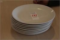 "8 pc ITI 9.5x7.5"" Oval Plates"
