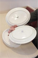 "5 pc Clinton and ITI 13x10"" Oval Plates"