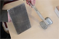 """5x8.5"""" Bacon Press and Aluminum Meat Tenderizer"""