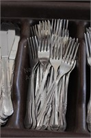 Flatware Tray with Flatware