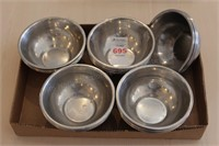"30 pc 5.5"" Stainless Bowls"