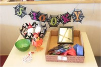 Decorations, streamers and picture frames