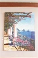 Seaside Chateau Oil on Canvas