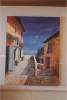 Oceanside Village Oil on Canvas