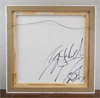 American Abstract Acrylic/Board Signed Cy Twombly