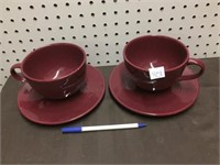 2 OVERSIZED CUP & SAUCER GROUP