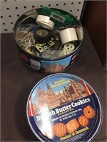 COOKIE TIN AND CONTENTS