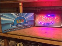 NEW LED LIGHT UP OPEN SIGN