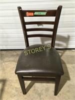 Ladder Back Dining Chair w/ Cushion