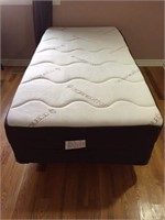 6 MONTH AS NEW TWIN MATTRESS, BOXSPRING & FRA